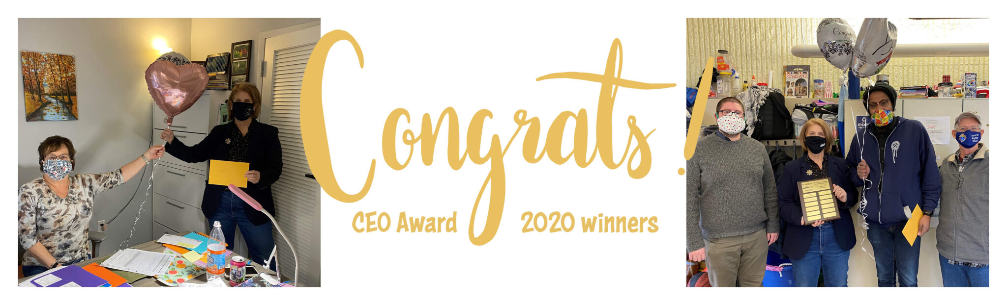 2020 Employee of the Year award recipients